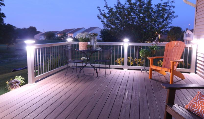 side mount railing outdoor lighting idea