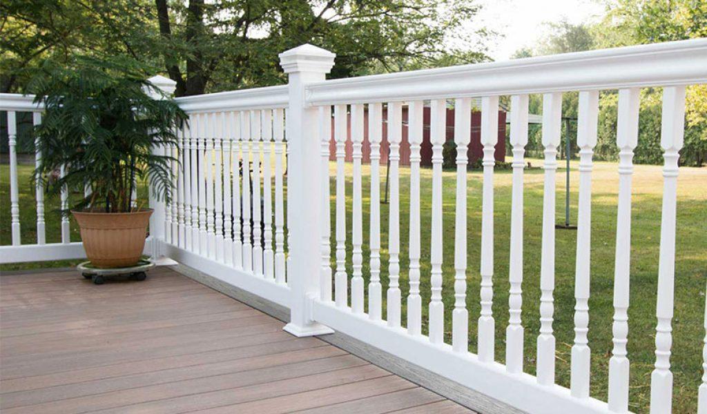 maintenance-free vinyl railings