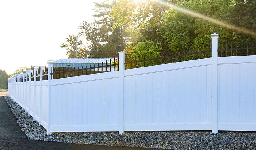 vinyl privacy fence design