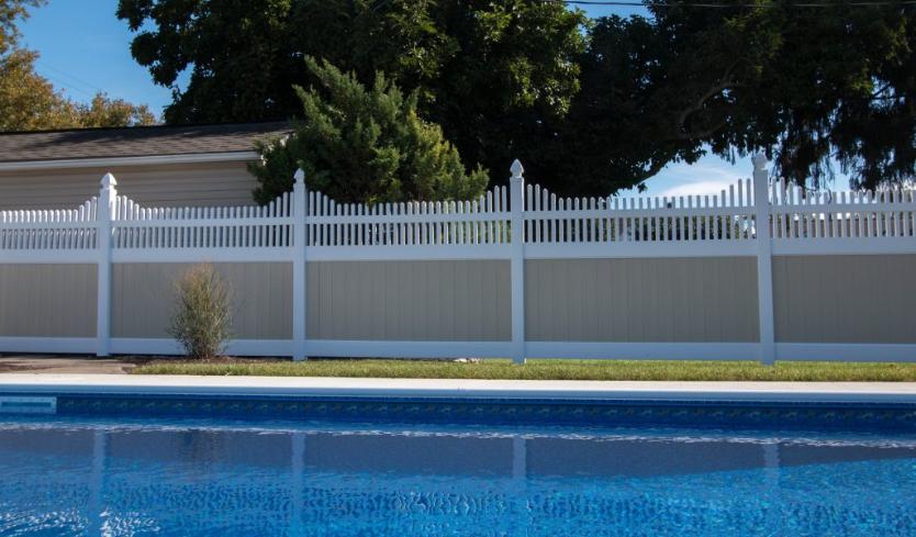 vinyl pool security fence