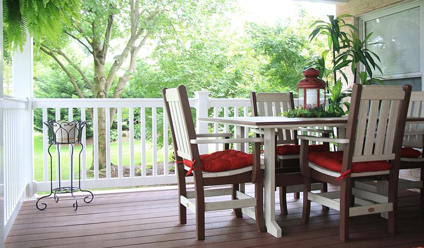 furniture purchased for diy deck makeover