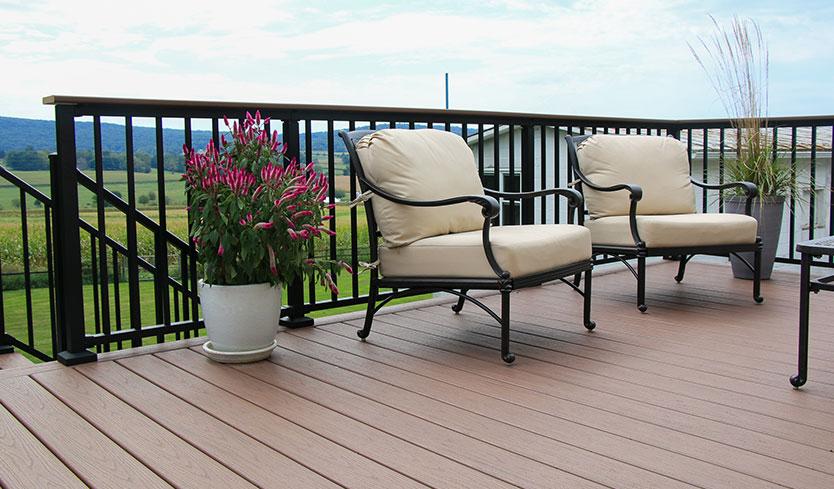 aluminum railing for deck