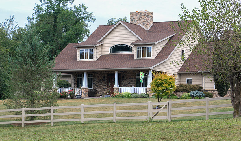 rustic fence design for front yard