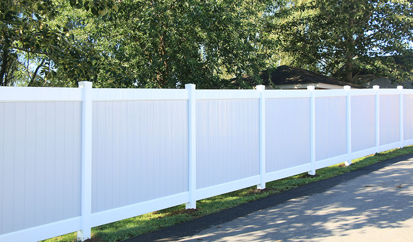 two-tone front yard fence